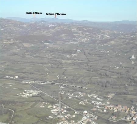 caposaldo di confine: colle d'Albero a confine con i FRENTANI. SCHIAVI d'ABRUZZO, antico insediamento pentro con i resti di 2 templi.