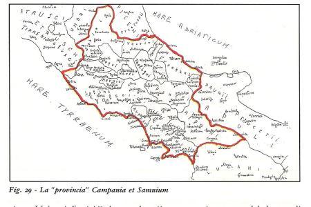 """la """"provincia"""" """"Campania et Samnium"""" al tempo di Diocleziano."""