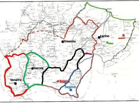 """I 5 """"muicipii"""" e le 5 """"diocesi"""" episcopali nel territorio dei """"PENTRI"""""""