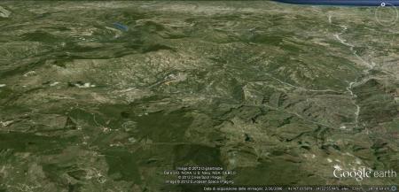 """Il territorio montuoso-collinare dell' """"Alto Sannio""""."""