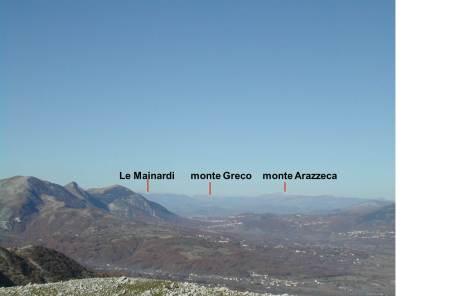 da monte Crocella, panorama verso est.