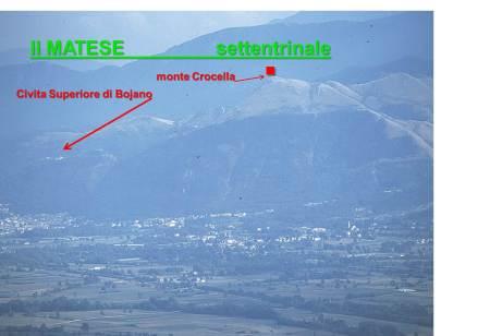 monte Crocella, Civita Superiore di Bojano e la città con la sua pianura.pianura