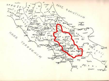 """IL """"SANNIO"""" (rosso) (ri)conosciuto dai Romani,"""