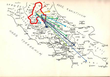 """Dalla """"SABINA"""" alle tribù dei """"Safini/Sanniti""""."""