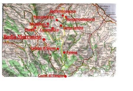 Le località dove furono nacquero i primi eremi ed i monasteri.